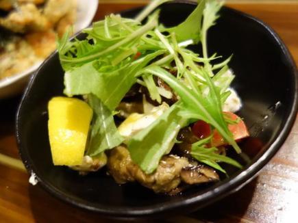 スモーク牡蠣とクリームチーズ