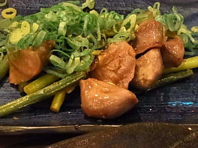 砂肝ニンニク炒め