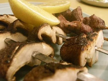 砂肝と椎茸