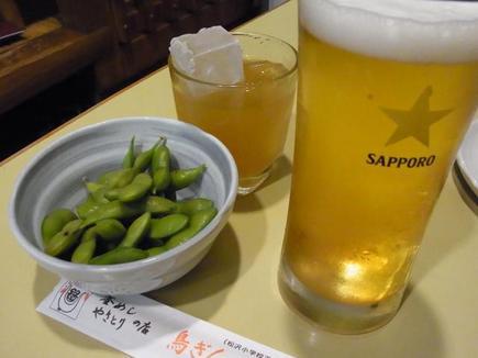 ビールとあらごし梅酒