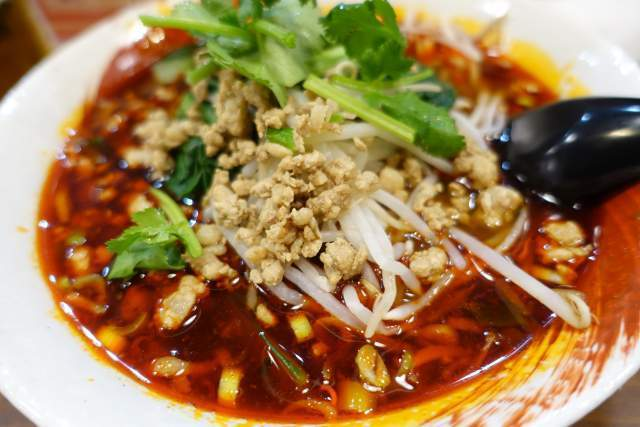 金蘭の麻辣刀削麺