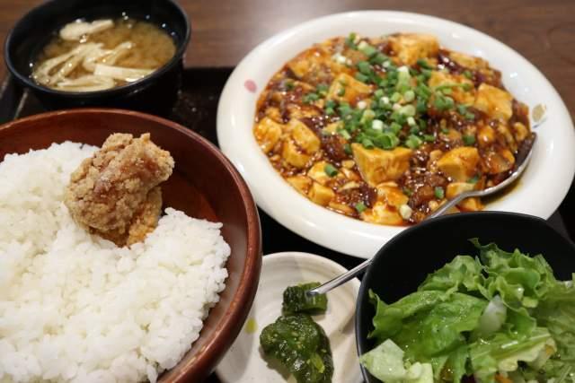 金蘭の麻婆豆腐定食