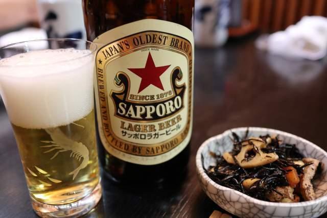 大和寿司のサッポロ ラガービール