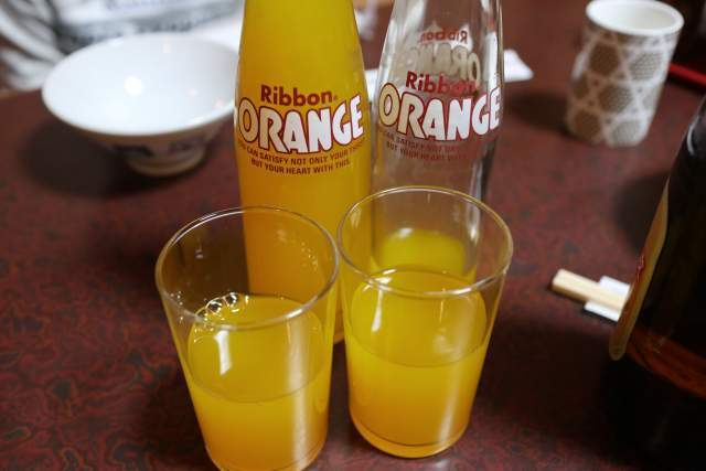 鳥ぎんのオレンジジューズ