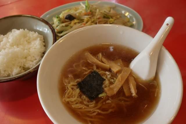 つけ麺大王の野菜炒めセット