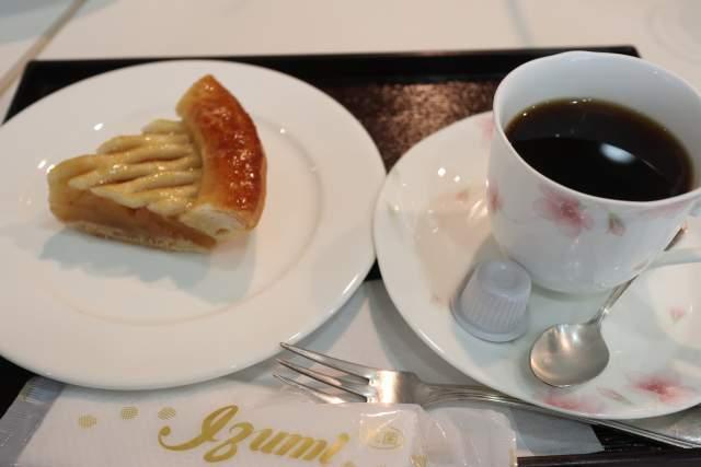 喫茶YOU・遊のアップルパイとコーヒー